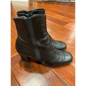 Beautifeel Womens Size 38 Black Leather Ankle Boot